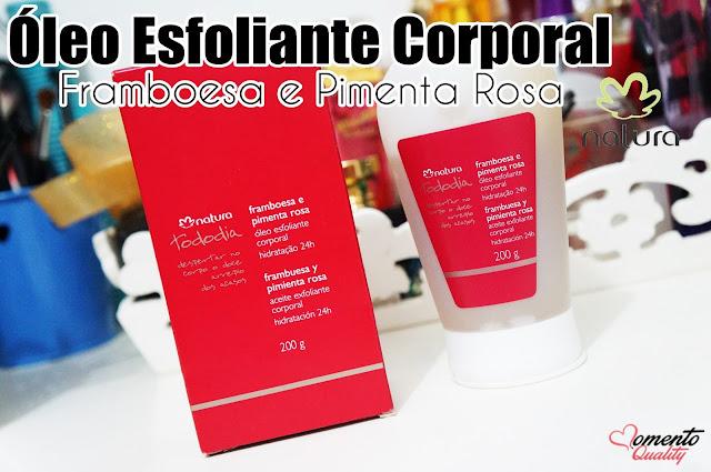 Óleo Esfoliante Corporal Framboesa e Pimenta Rosa Natura TodoDia