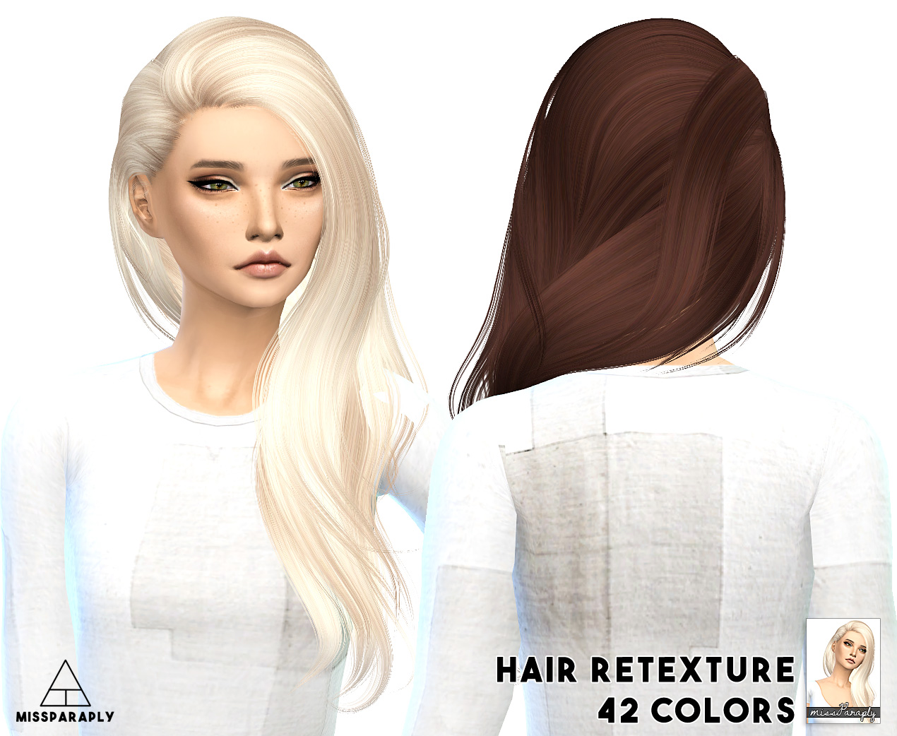 My Sims 4 Blog Alesso Hair Retexture By Missparaply