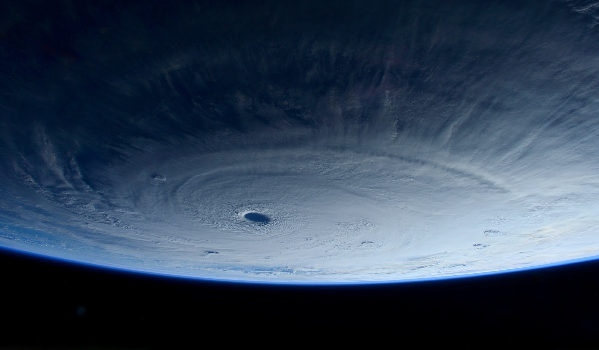 Super Typhoon Maysak from International Space Station