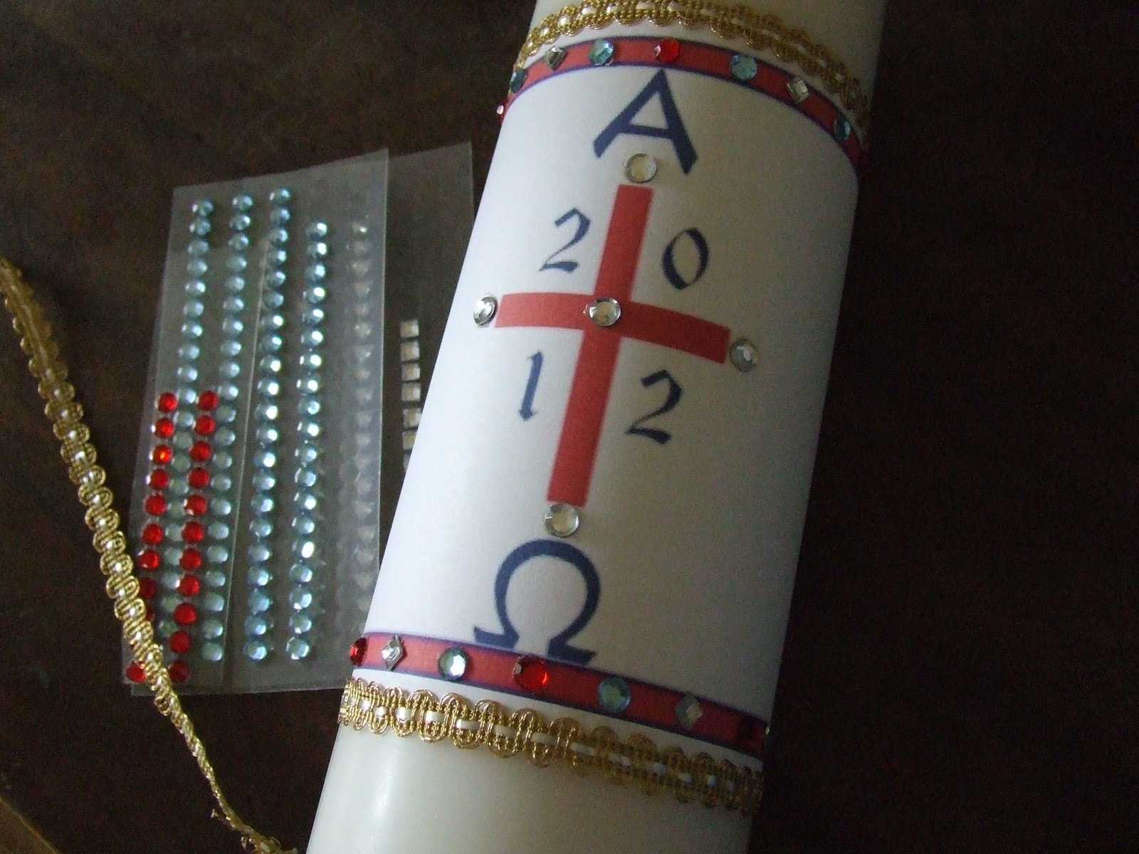 Waltzing Matilda Easy Paschal Candle
