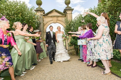 Ormesby Hall wedding, the confetti