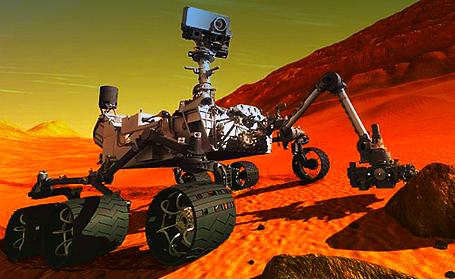O robô Curiosity no solo marciano