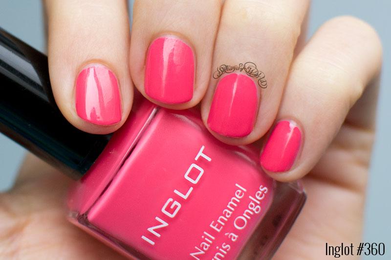 inglot 360 nail polish swatch