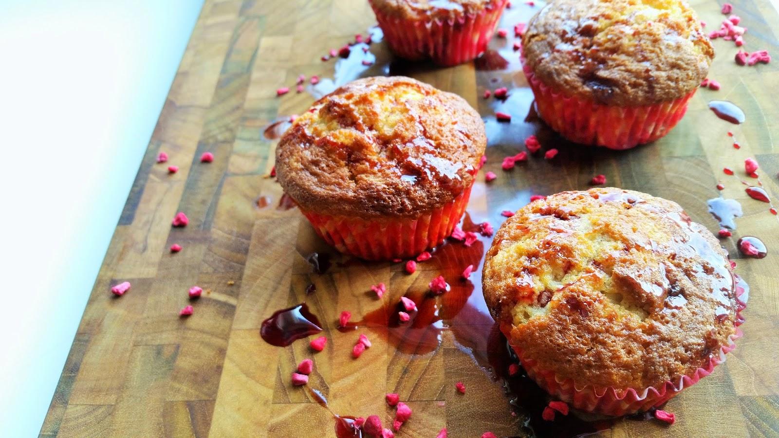 Stikkelsbær-solbær muffins