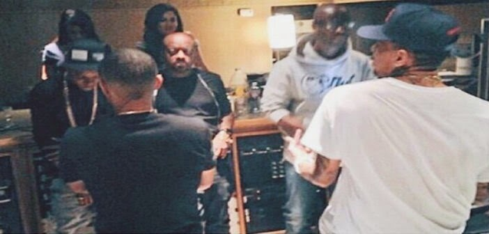 Wizkid In Studio With Chris Brown, Bow Wow And Jermaine Dupri