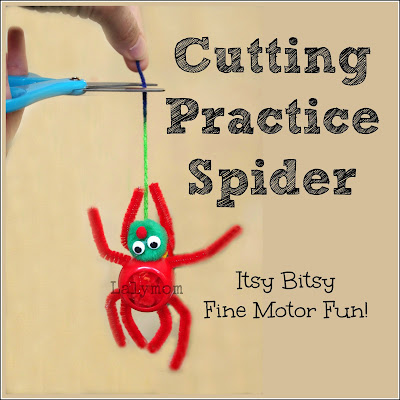 Cutting Practice Spider Activity for Preschoolers from Lalymom