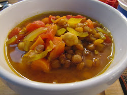 Moroccan Lentil and Chickpea Soup - Page 46