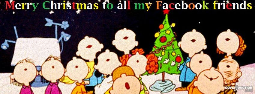 Merry Christmas Facebook Friends Cover Photo