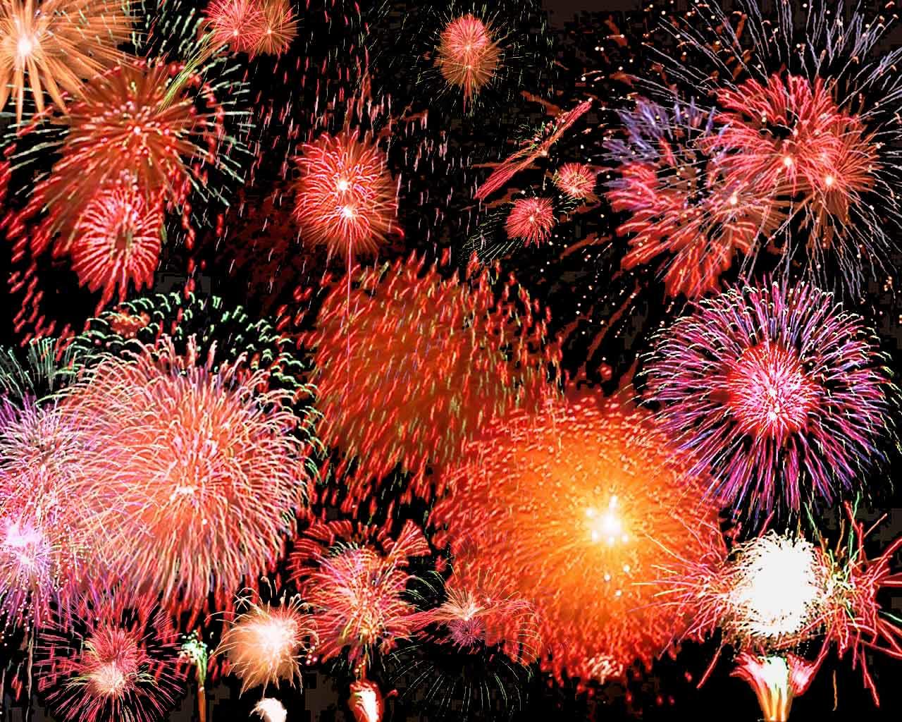 transparent fireworks.
