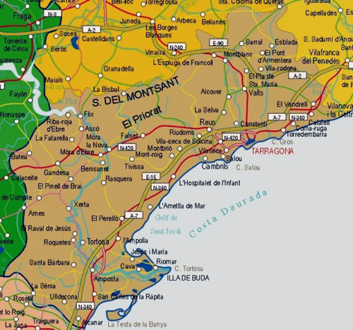 Tarragona Spain  City pictures : Tarragona, ciudad situada en el extremo norte oriental de la ...