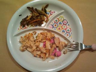 cena salmón y verdura