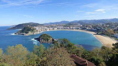 Vistas de San Sebastián desde Monte Igueldo