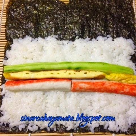 kaedah menggulung sushi