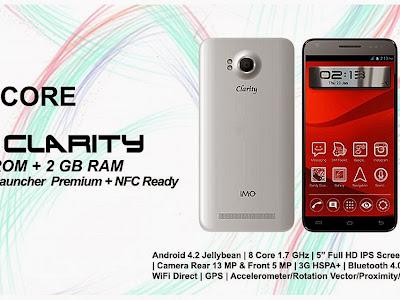 Gambar Spesifikasi dan Harga IMO Clarity Q8 with Vire Launcher Premium