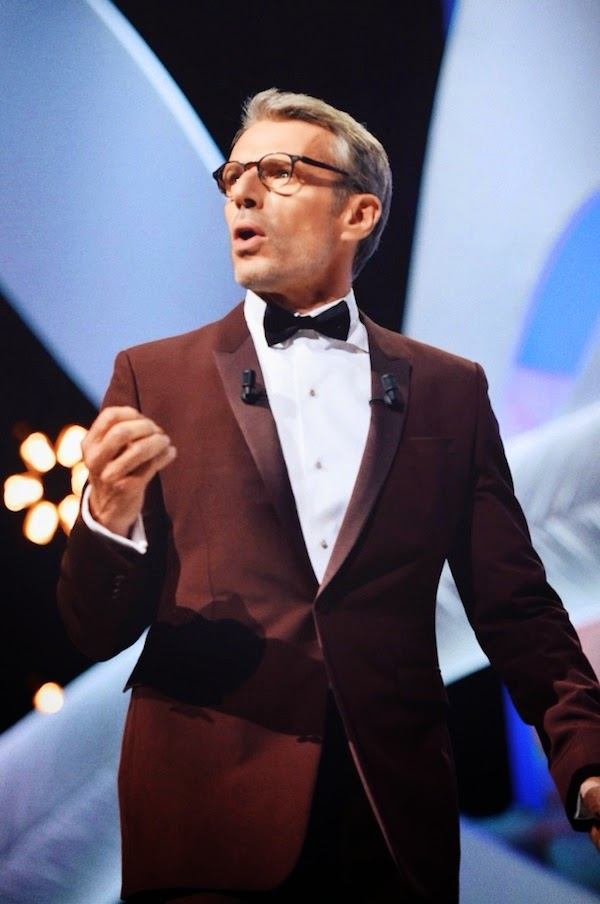 Lambert Wilson in Dior Homme red tuxedo - Closing Ceremony, The 67th Annual Cannes Film Festival #Cannes2014
