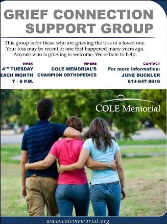 8-26 Grief Connection Cole Memorial