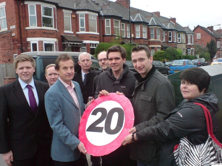 Lib Dem Campaigners supporting 20s Plenty