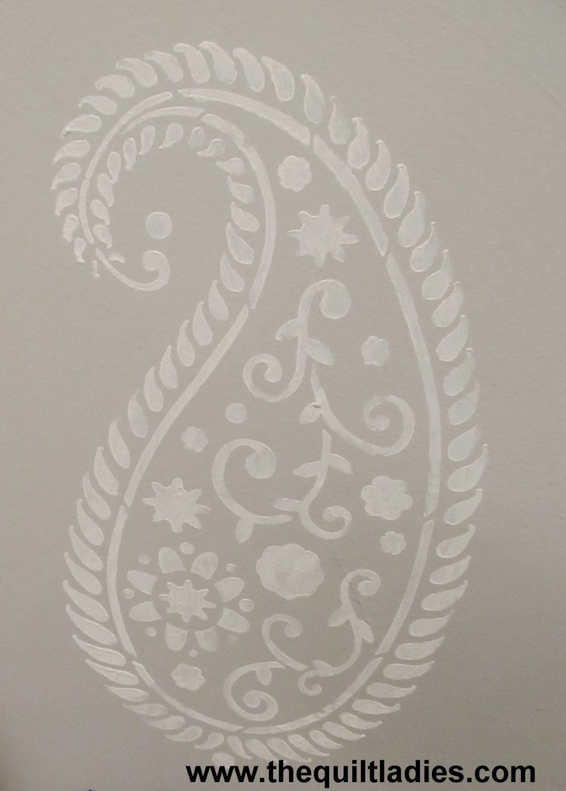 large paisley stencil