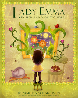 http://www.amazon.com/Lady-Emma-Her-Land-Wonder/dp/1941217044/ref=sr_1_1?s=books&ie=UTF8&qid=1437147562&sr=1-1&keywords=lady+emma+land+of+wonder&pebp=1437147571303&perid=1ATS4134YPHJ94C5NN6Q