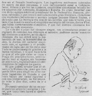 Artículo del Dr. Carlos Rodríguez Lafora sobre la III Olimpíada de Ajedrez Hamburgo (3)