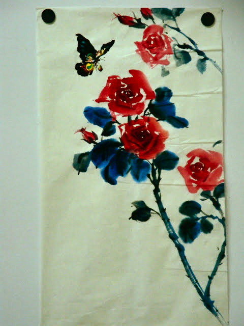 Chinese Ink Painting Roses