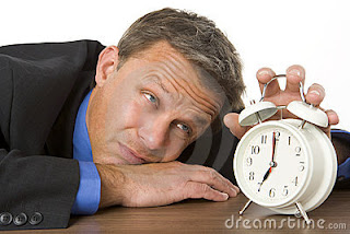 a person watching the clock