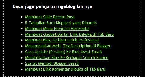 Cara Membuat Random Post di Bawah Postingan Blog