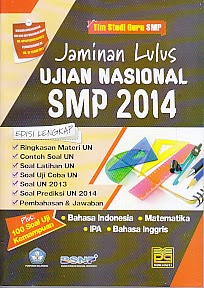 toko buku rahma: buku JAMINAN LULUS UJIAN NASIONAL SMP 2014, pengarang tim studi guru, penerbit pustaka grafika