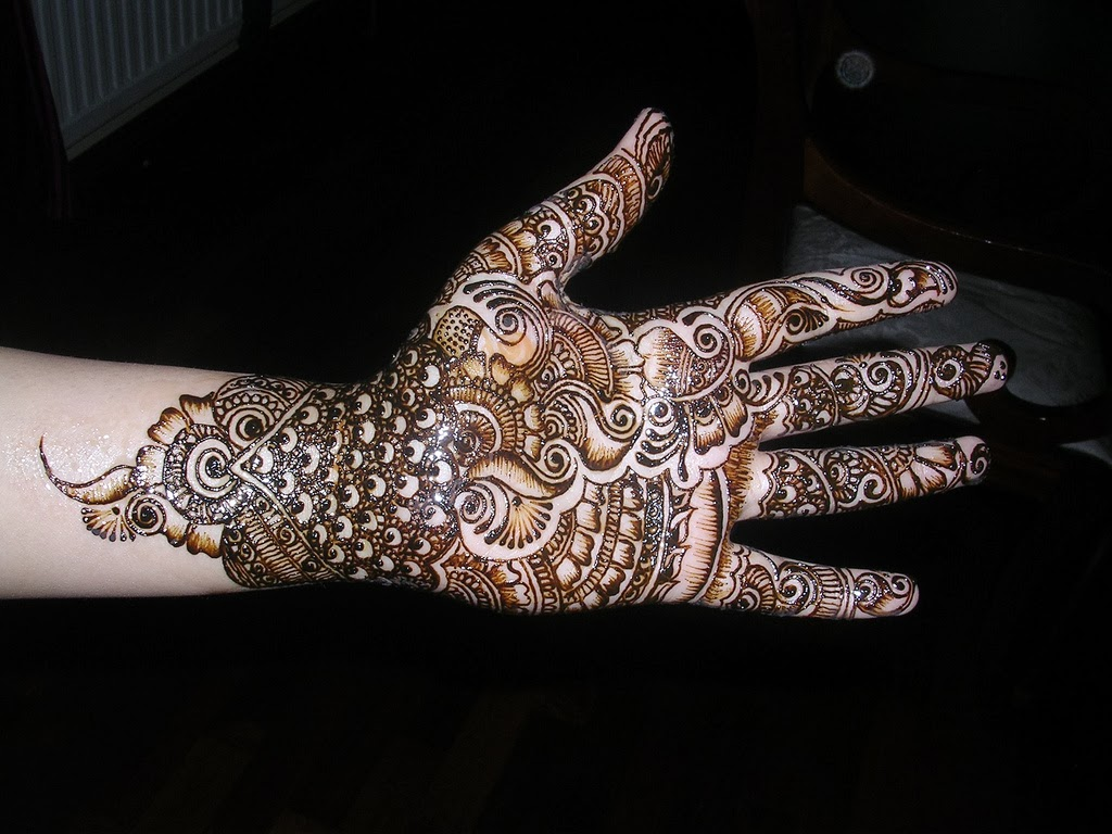Mehndi Front Side : Beautiful latest simple arabic pakistani indian bridal