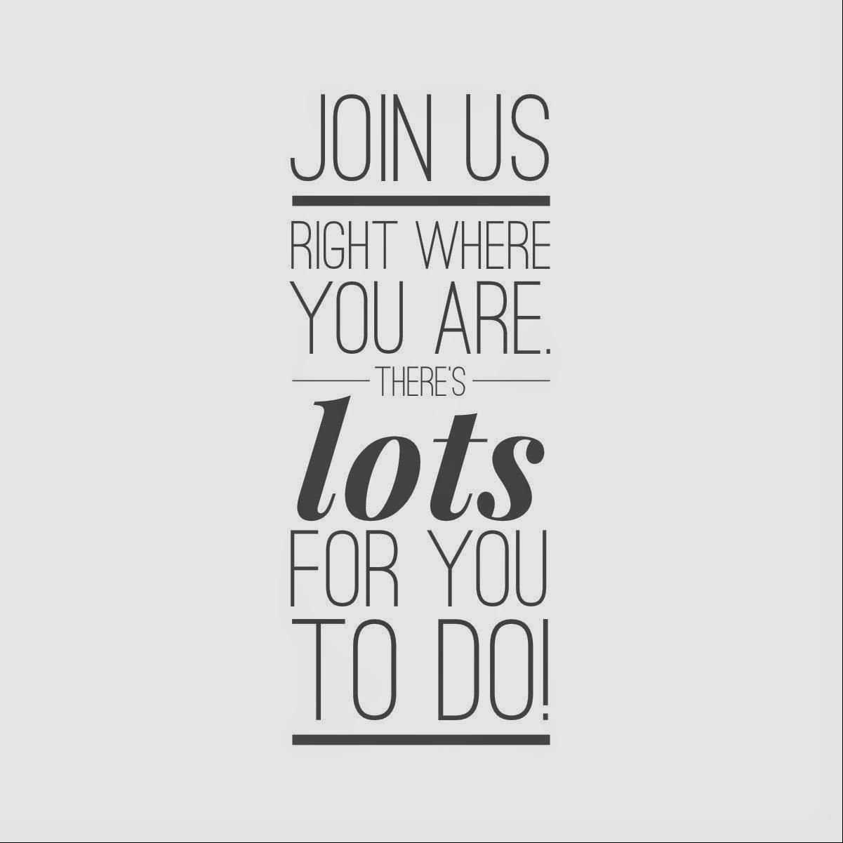 We need your involvement!