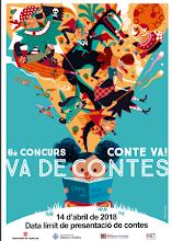 Cartell 6è Concurs de contes 2018 Fira Conte va! va de contes 2017
