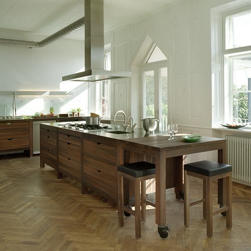 Houten keuken moderne keuken design trends 2012 herontwerpen van keuken interierus - Keuken back bar ...