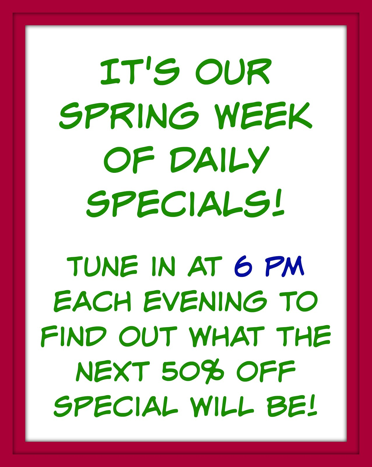Our Specials Week!