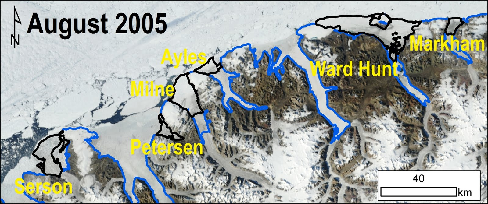 Ellesmere Island Ice Shelves 2005