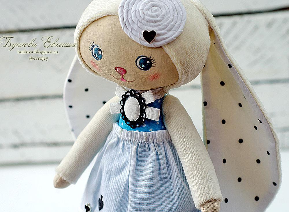 зайка, Буслова Евгения, кукла, текстильная кукла, игрушка, текстильная игрушка