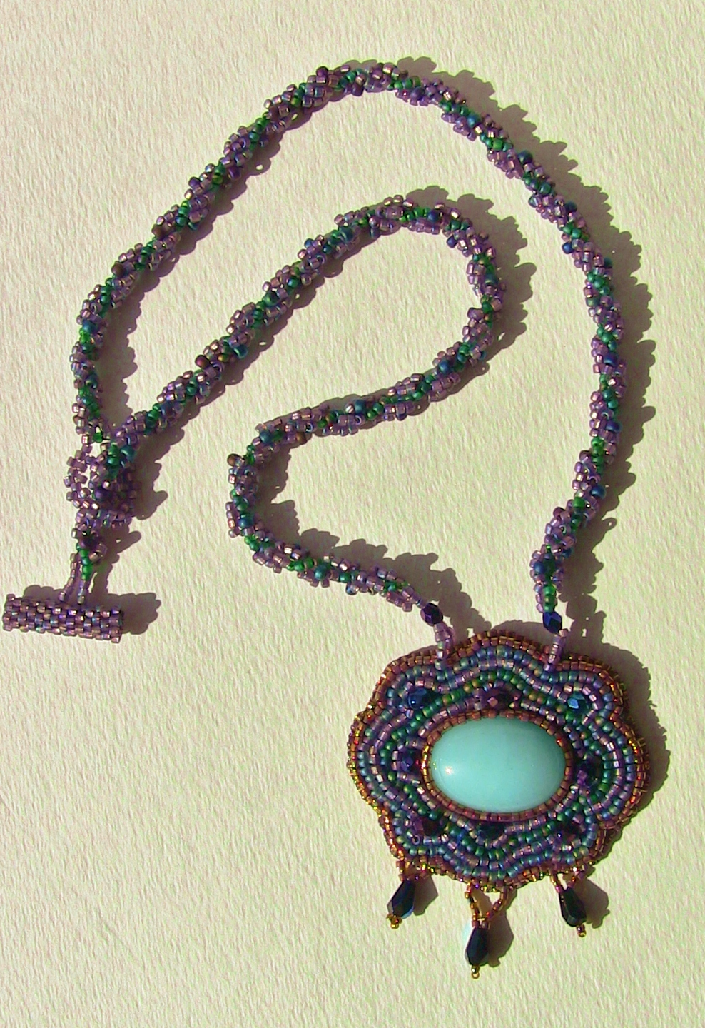 blue ridge designs baroque in blue bead embroidered