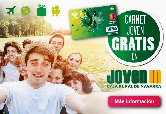 Joven in caja rural de navarra carn joven gratis en for Oficinas caja rural de navarra