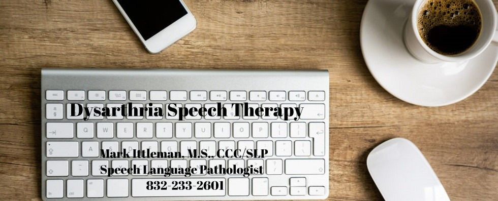 Dysarthria Speech Therapy