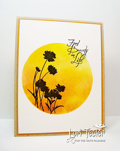 Find Beauty in Life card-designed by Lori Tecler/Inking Aloud-stamps from The Cat's Pajamas