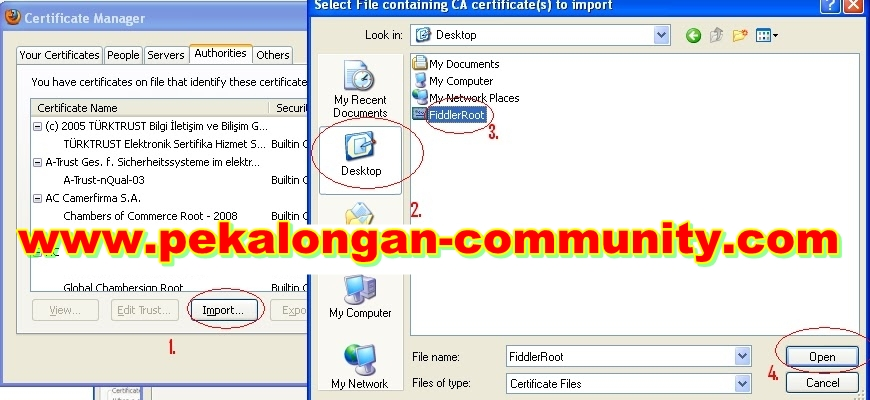 Centang Trust This CA To Identify Website Dan Klik Oke