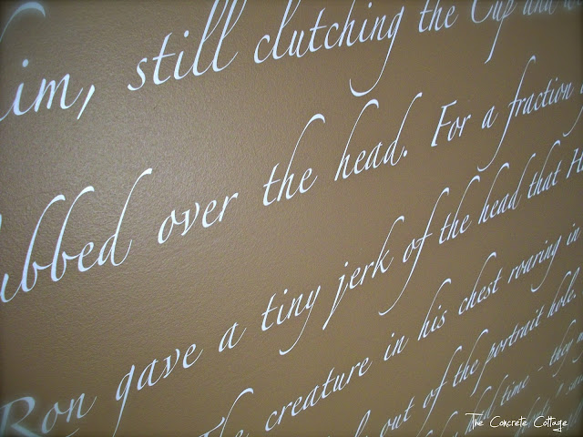 The Concrete Cottage Script Wall