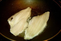 fry fish fillet first in Chinese fish recipe