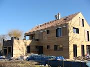 Chantier maison Madier Bois . Architecte Maison Bois - Paris - Alsace maison bois