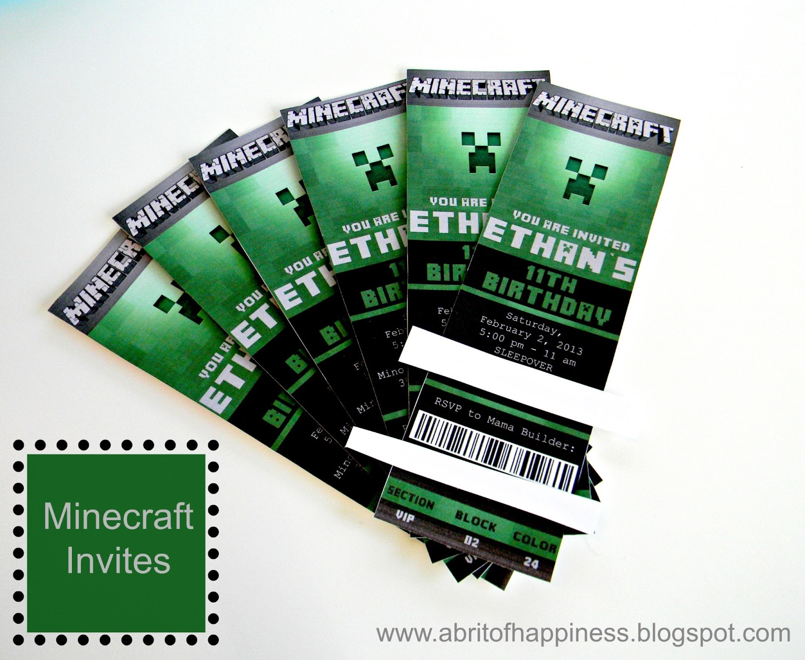 Minecraft Party Invitations Template futurecliminfo
