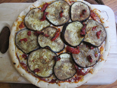 Eggplant and Sun-Dried Tomato Pizza | The Economical Eater