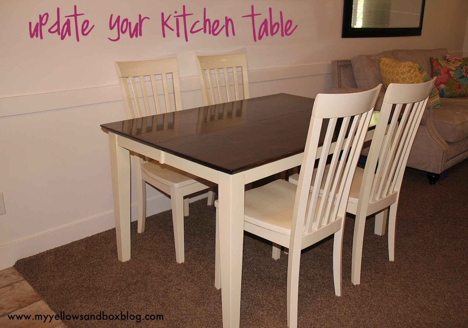 How to stain and paint your kitchen table twist me pretty how to stain and paint your kitchen table august 21 2012 watchthetrailerfo