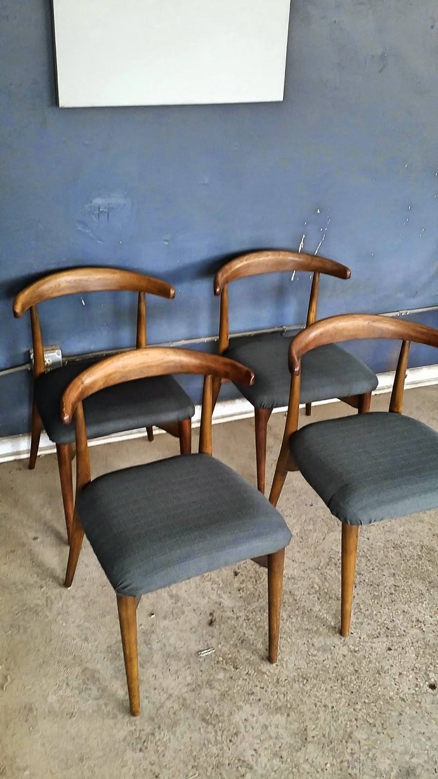 Vintage ground set of four mid century danish modern for Mid century danish modern chair