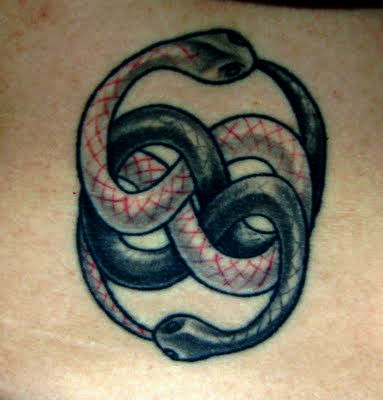 3D Snakes Tattoo on Lower Back
