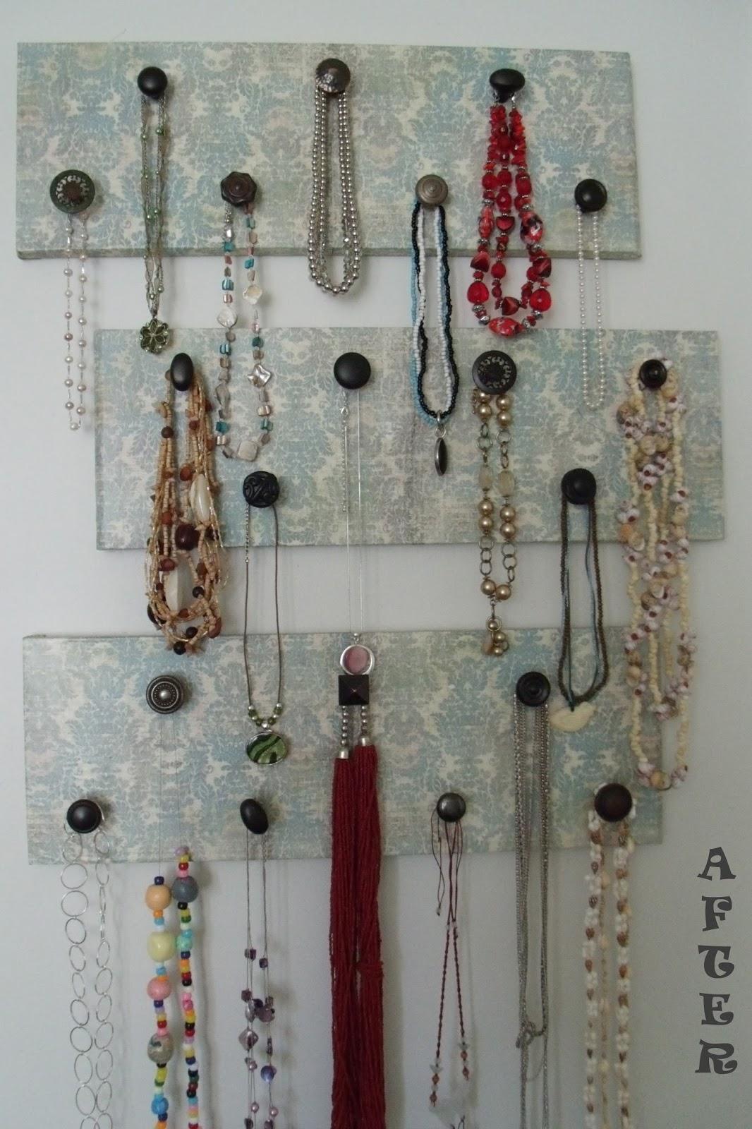 reclaim renew remodel hanging earring organizer to