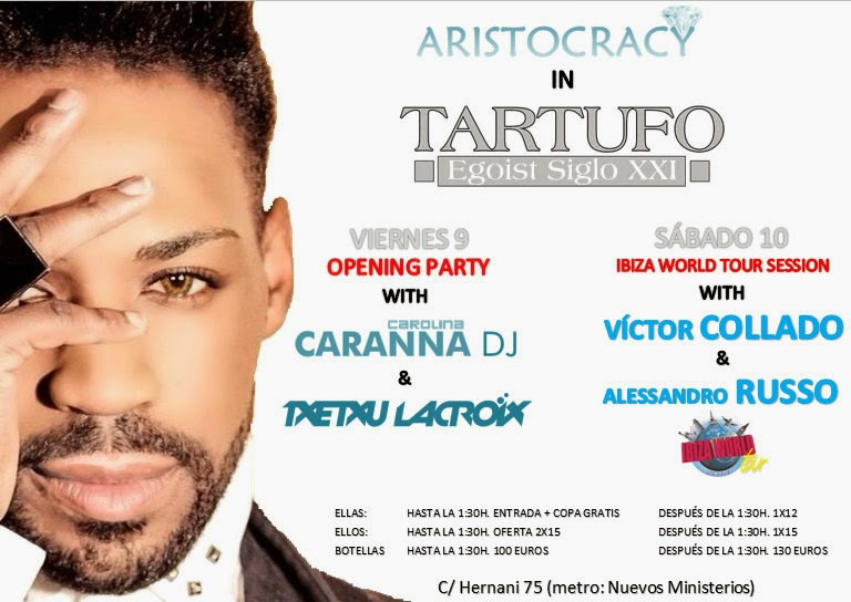 Discoteca Tartufo fiesta 9 y 10 Mayo